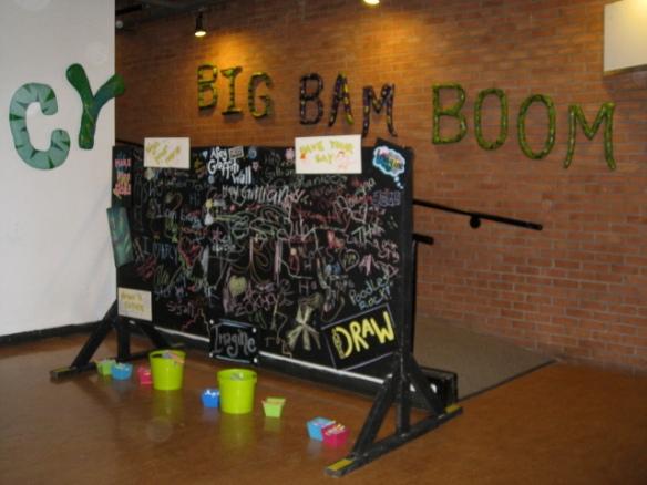Big Bam Boom Art Show Signage