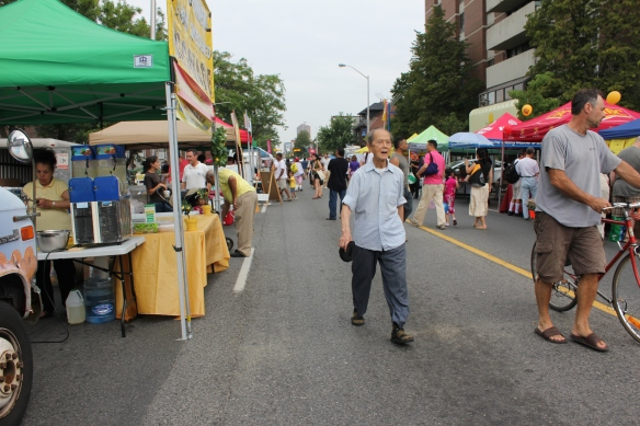 Street view of the New Bloor Festival