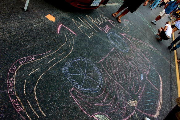 Chalk Drawings on Bloor Street