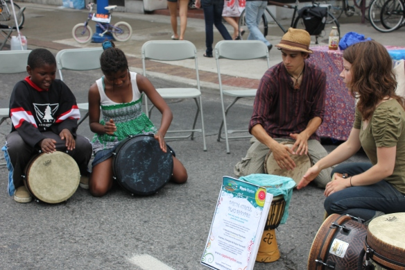 Drumming Circle on Bloor Street