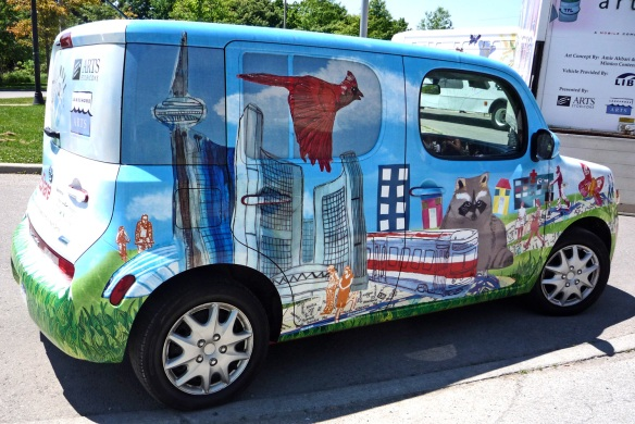 Art-wrapped vehicle by Art on the Move.
