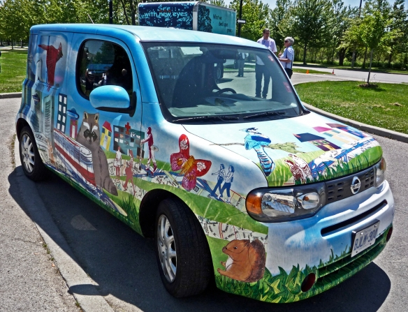 Van painted by Art on the Move.