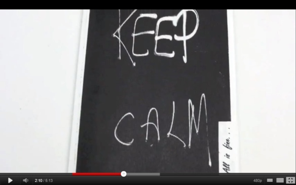 Keep Calm Chalkboard