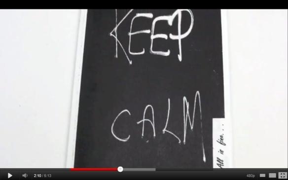 Keep Calm Chalkboard